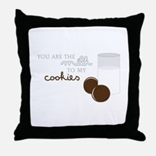 Milk to Cookies Throw Pillow