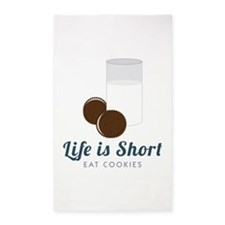 Life is Short 3'x5' Area Rug