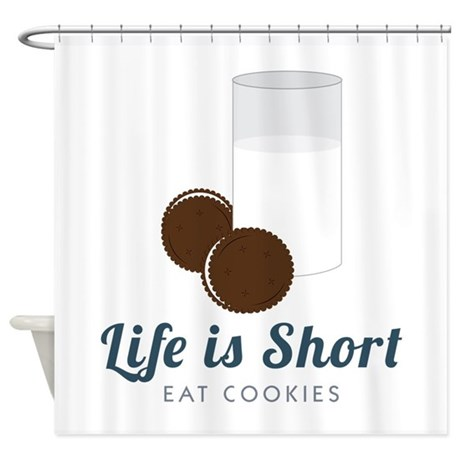 life is short shower curtain by concord22