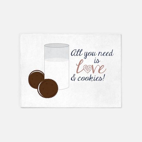 Love & Cookies 5'x7'Area Rug
