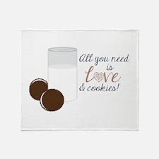 Love & Cookies Throw Blanket