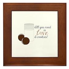 Love & Cookies Framed Tile
