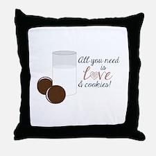 Love & Cookies Throw Pillow