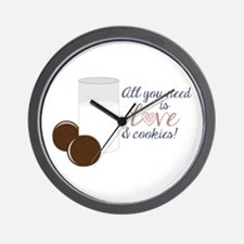Love & Cookies Wall Clock