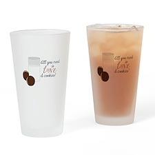 Love & Cookies Drinking Glass