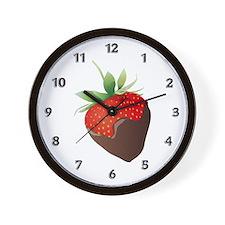 Chocolate Strawberry Wall Clock