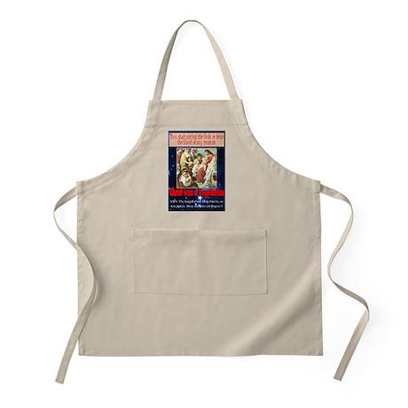 Christ was a Vegetarian BBQ Apron