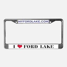 """""""I Love Ford Lake"""" License Plate Frame"""