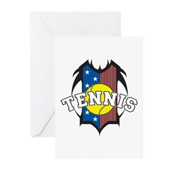Tribal Tennis Greeting Cards (Pk of 10)