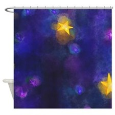 Funny Stary night Shower Curtain