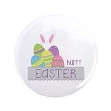 """Happy EASTER 3.5"""" Button"""