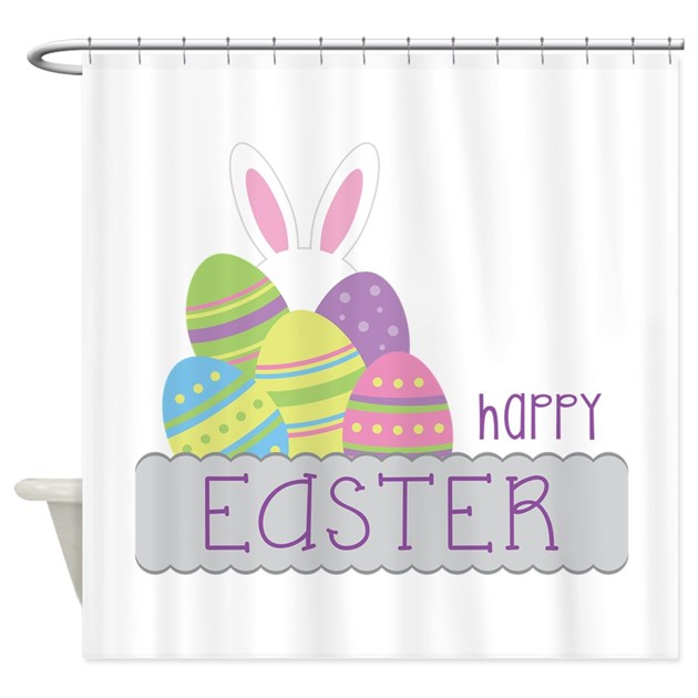 happy easter shower curtain by concord22