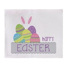 Happy EASTER Throw Blanket