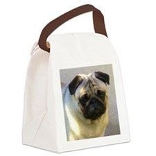 Pug headstudy Canvas Lunch Bag