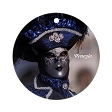 Blue mask Ornament (Round)