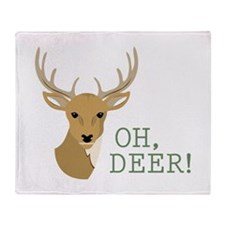 Oh, Deer! Throw Blanket