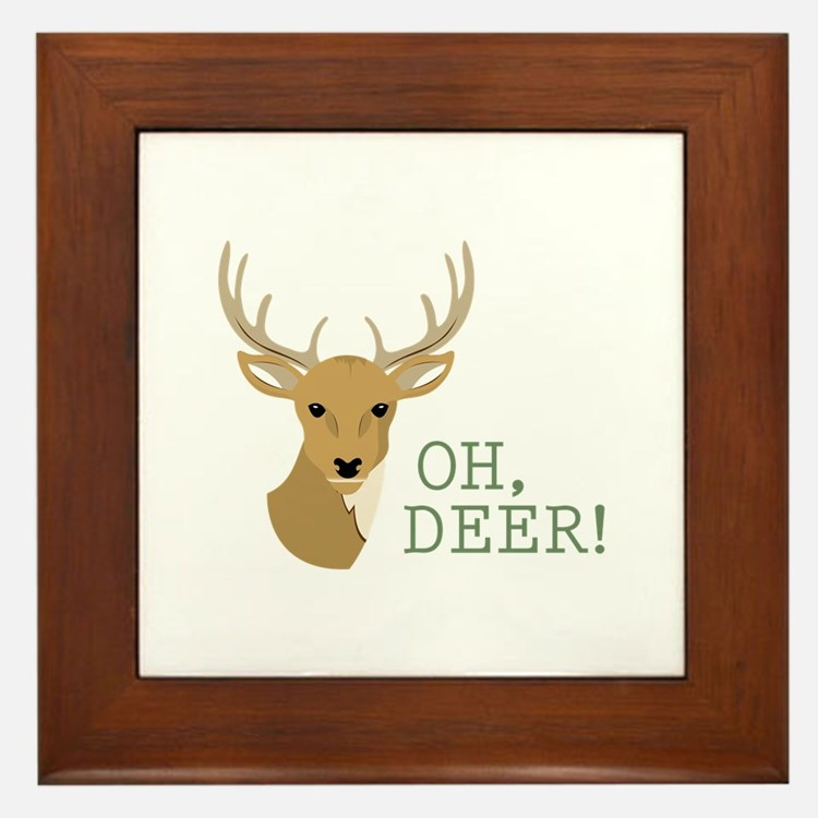 Oh, Deer! Framed Tile