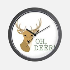 Oh, Deer! Wall Clock