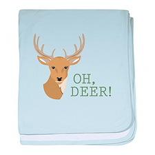 Oh, Deer! baby blanket