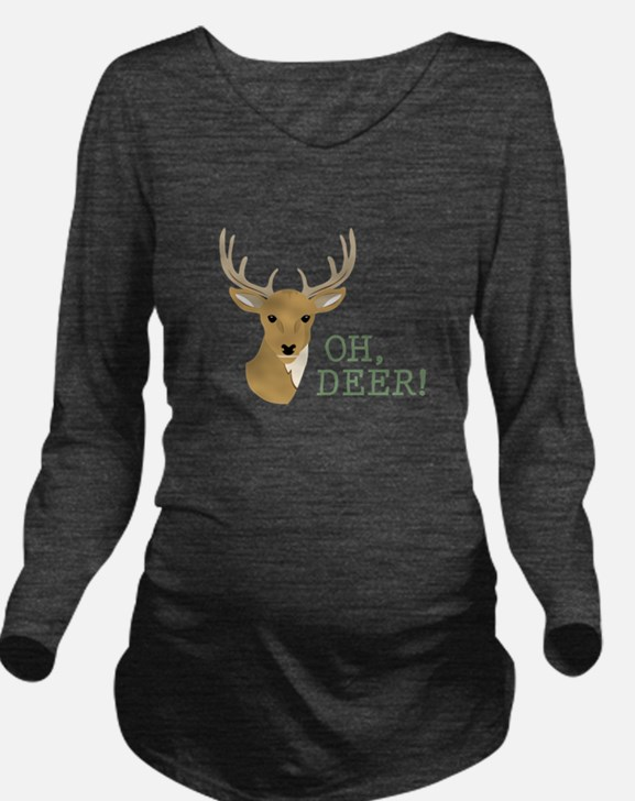 Oh, Deer! Long Sleeve Maternity T-Shirt