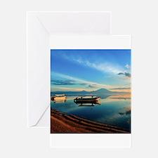Sunrise Sanur Bali Greeting Cards