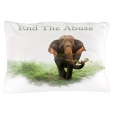 End Elephant Abuse Pillow Case
