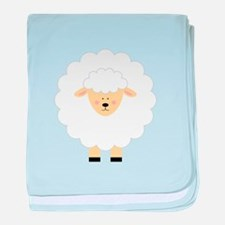 Lamb baby blanket