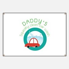 DADDY's Squeaky clean car wash Banner