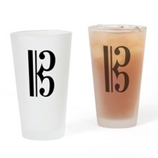 Alto Clef Drinking Glass
