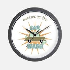 Meet me at the car wash Wall Clock