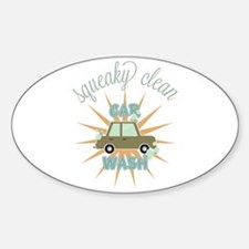 Squeaky clean car wash Decal