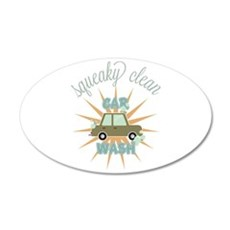 Squeaky clean car wash Wall Decal
