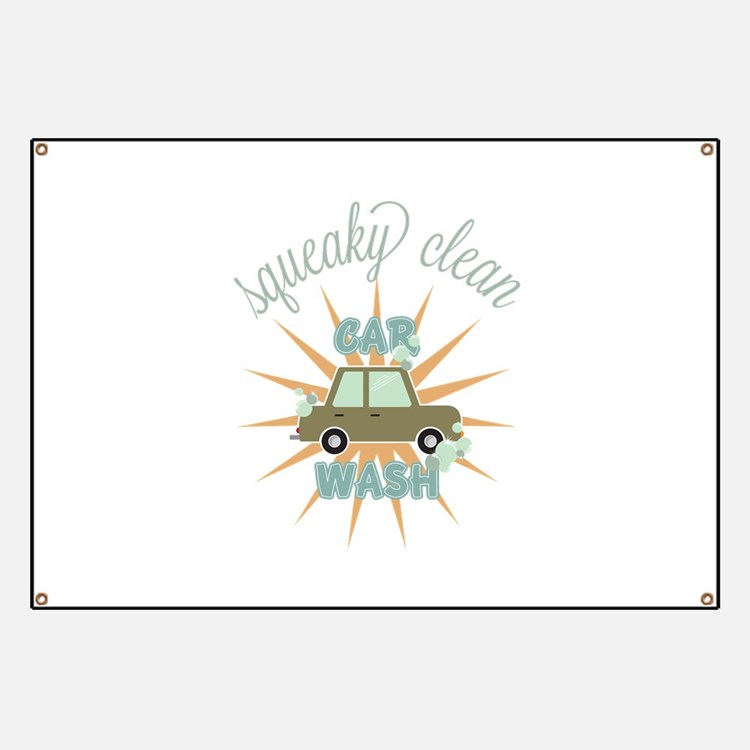 Squeaky clean car wash Banner
