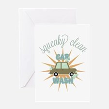 Squeaky clean car wash Greeting Cards
