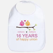 16th Custom Wedding Anniversary Bib