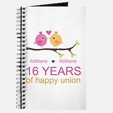 16th Custom Wedding Anniversary Journal