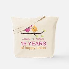 16th Custom Wedding Anniversary Tote Bag