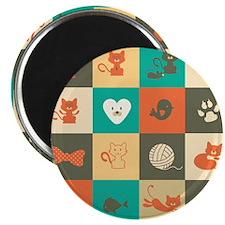 Retro Cats Magnet
