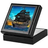 Pirate ship Keepsake Boxes