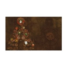 Steampunk Christmas Wall Decal