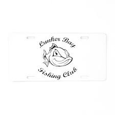 Lunker Bay Fishing Club Aluminum License Plate