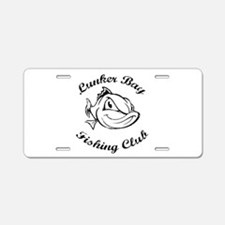 Lunker Bay Fishing Club Aluminum License Plate