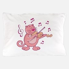 Cute Music note and cat Pillow Case