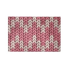 Pink Knit Graphic Pattern Magnets