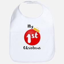My 1st Christmas Cotton Baby Bib