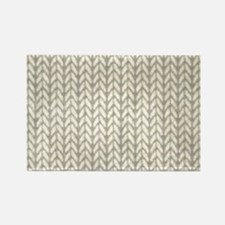 White Knit Graphic Pattern Magnets