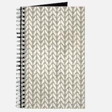 White Knit Graphic Pattern Journal