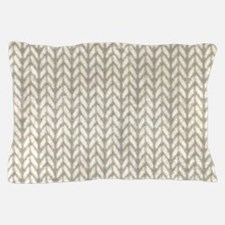 White Knit Graphic Pattern Pillow Case