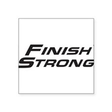 Finish Strong Classic Logo Sticker