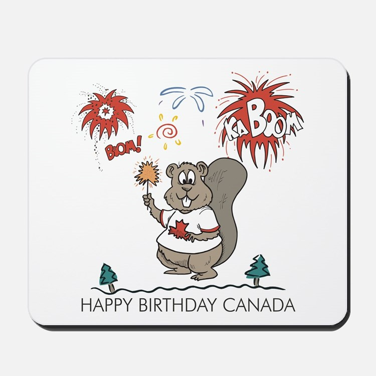 Happy Birthday Canada Mousepad
